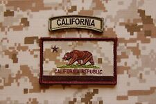 AOR1 California State Flag Patch & MC Tab Set NSW Navy SEAL Afghanistan