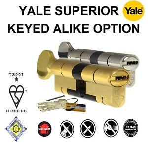 Yale-Superior-Euro-Profile-Cylinder-Locks-Keyed-Alike-Option-Double-Key-amp-Turn