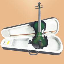 NAOMI 3/4 Size Handcrafted Basswood Violin + Bow+ Rosin + Bridge SET-Black & G