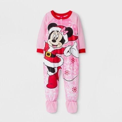 Disney BABY Girls 18 moths Fleece Minnie Mouse Blanket Sleeper Footie Pajamas