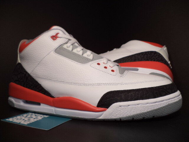 san francisco c845f 699c8 Mens Nike Air Jordan 3 Retro White Cement Red Basketball SNEAKERS 136064  161 for sale online | eBay