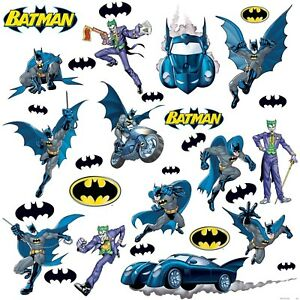 BATMAN-GOTHAM-31-Big-Removable-Vinyl-Wall-Decals-BATMOBILE-Room-Decor-Stickers