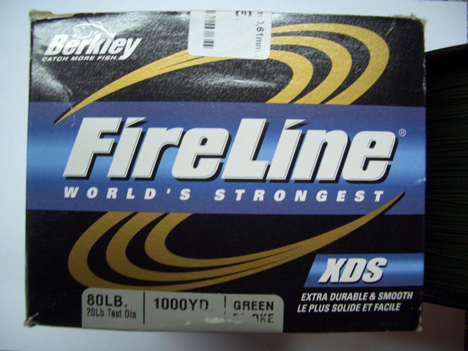 Berkley Fireline XDS Grün smoke 900m 0,61mm 79 kg Großfisch Schnur Angelschnur
