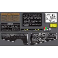 Honda CBX1000 Warning & Service Decal Set / Sticker