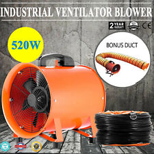 12 Extractor Fan Blower Ventilator5m Duct Hose Pivoting Heavy Duty Air Mover