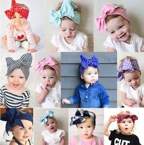 Cute Kids Girl Baby Toddler Bow Headband DIY Hair Band Accessories Headwear