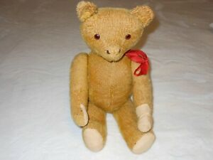 Antique-19-034-Mohair-Jointed-Teddy-Bear-1920s-Stuffed-Animal