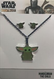 STAR-WARS-MANDALORIAN-THE-CHILD-BABY-YODA-NECKLACE-amp-EARRINGS-SET