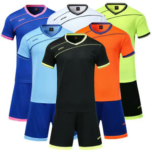 New Kits Soccer Suits Strip Sports Outfit Kids//Adults+Sock 19-20