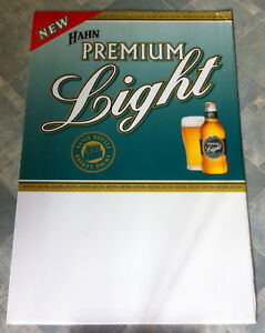 Vintage-Hahn-Premium-Light-Beer-First-Release-Corflute-Advertising-Display-Sign