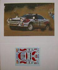 TOYOTA CELICA 4WD WINNER SAFARI RALLYE 1992 CARLOS SAINZ DECALS TROFEU