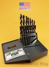 15 Pc Molybdenum M7 Drill Bit Set HI-MOLY Drills M-7 Bits USA Lifetime Warranty