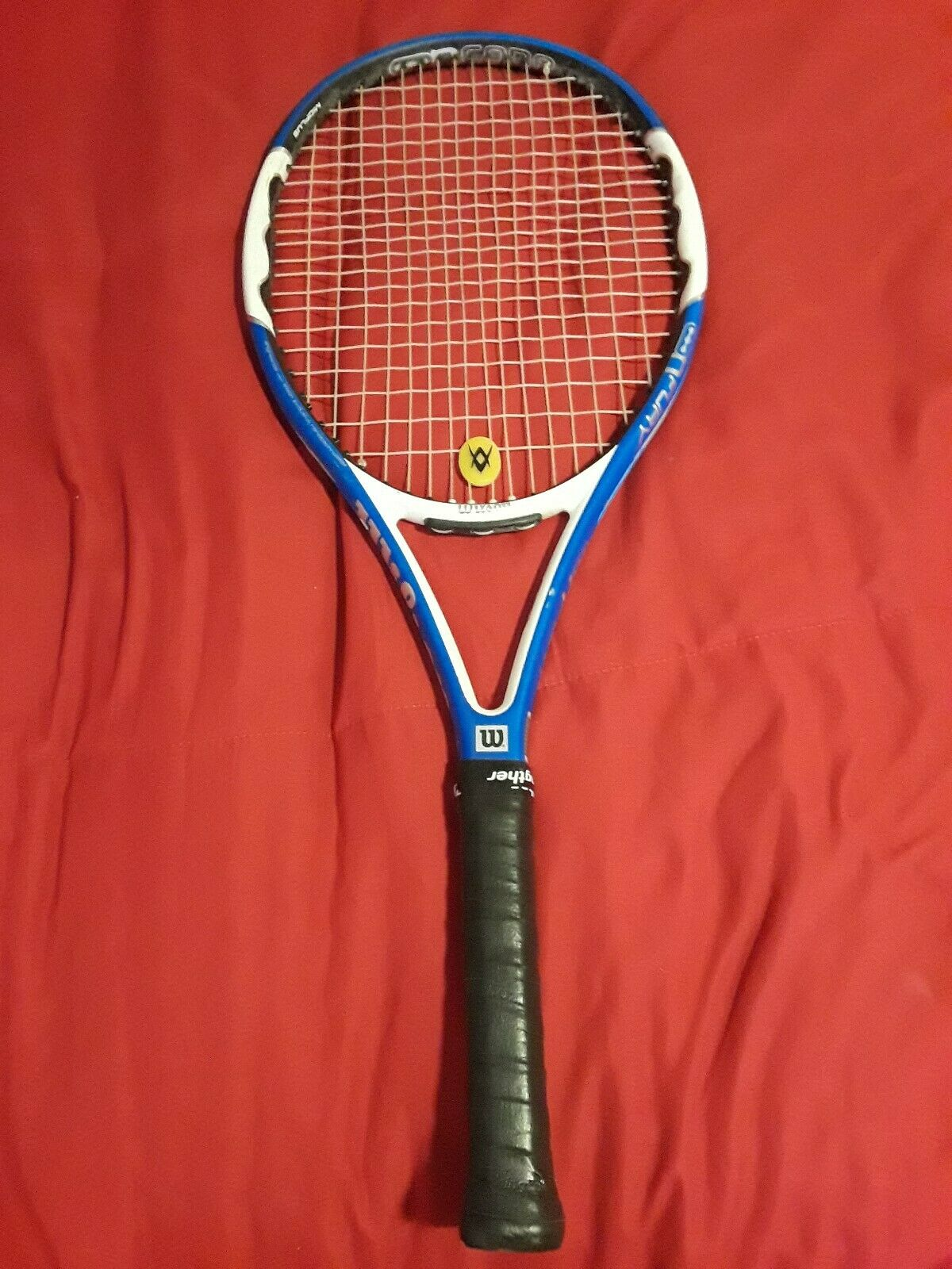 Wilson N Fury 100 Tennis Racquet  - 4  new overgrip