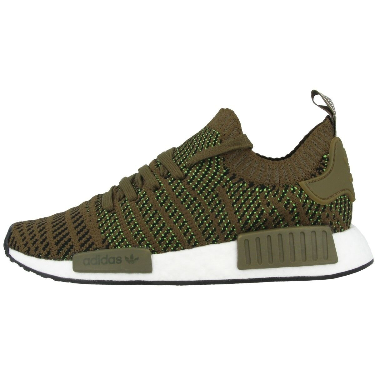 Adidas Nmd R1 Stlt Pk Primeknit shoes Men's Casual Sneakers Olive Cq2389