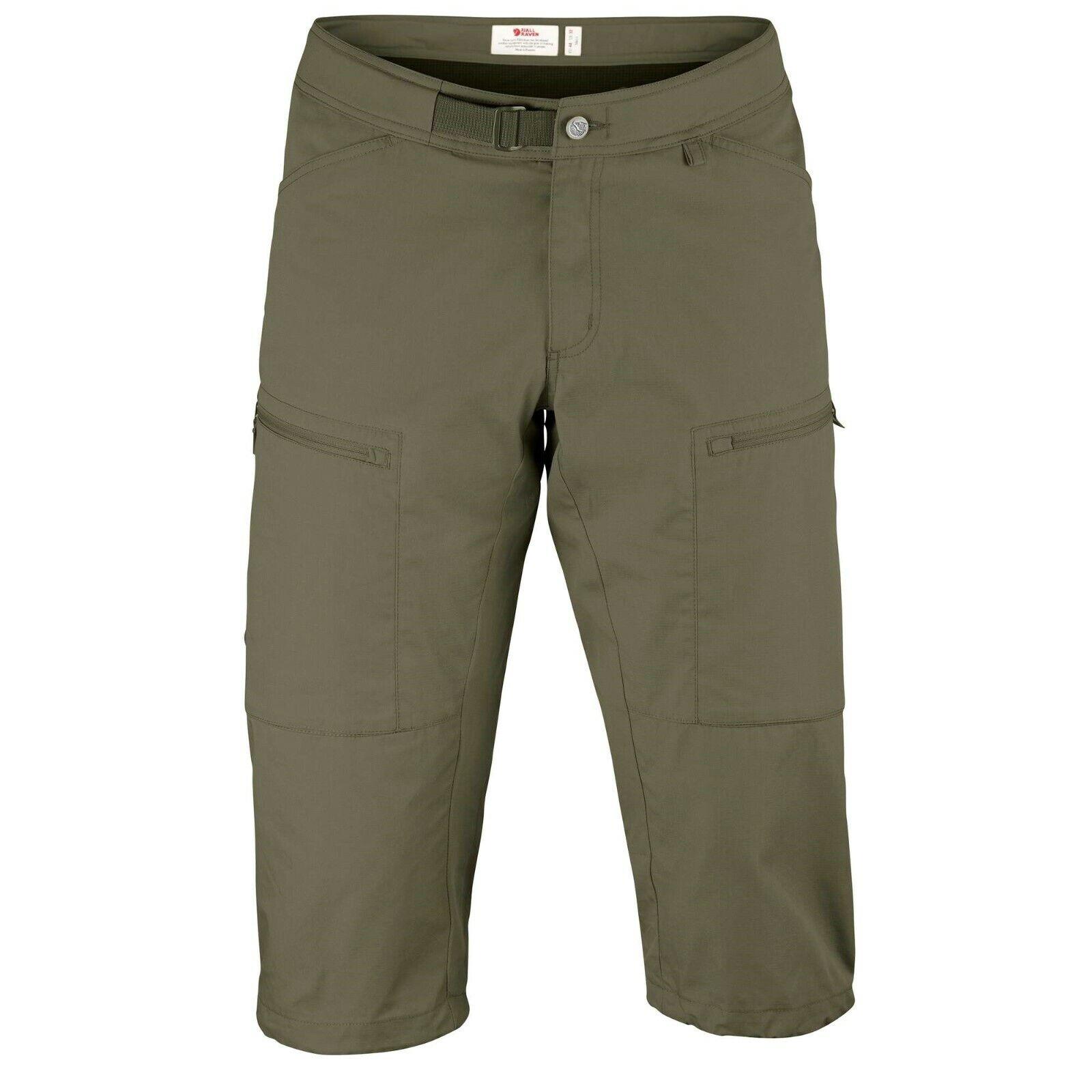 Fjäll Räven Abisko Shade Shorts  3 4-lange Trekkinghose für Herren  laurel Grün