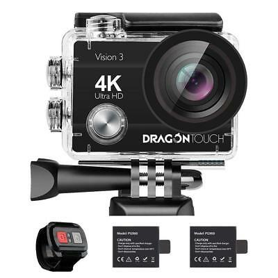 Foto & Camcorder Aufstrebend 4k Action Camera Dragon Touch 16mp Sony Sensor Vision 3 Underwater 170° Angle