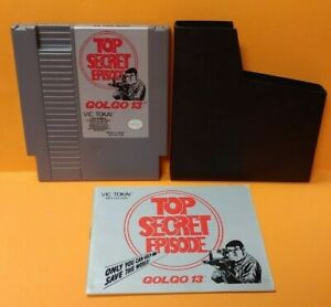 Gologo-13-Nintendo-NES-Game-Manual-Dust-Cover-Rare-Tested-Authentic