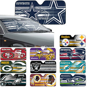 New-NFL-All-Team-Car-Truck-Windshield-Folding-Front-Window-Sun-Shade-Large-Size
