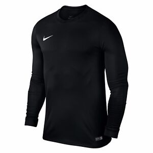Nike-Boys-T-Shirt-Long-Sleeve-Park-Football-Jersey-Training-Top-Size-S-M-L-XL