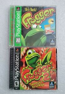 Frogger 1 & 2: Swampy's Revenge Lot PlayStation 1 PS1 Complete