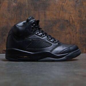 32b971c2fa96 Nike Air Jordan 5 V Retro PRM Triple Black Size 9. 881432-010