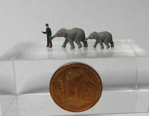 (te02-1) éléphants-bébé Et Petit Zoo Personnage Piste Z (1:220)-afficher Le Titre D'origine Forfaits à La Mode Et Attrayants