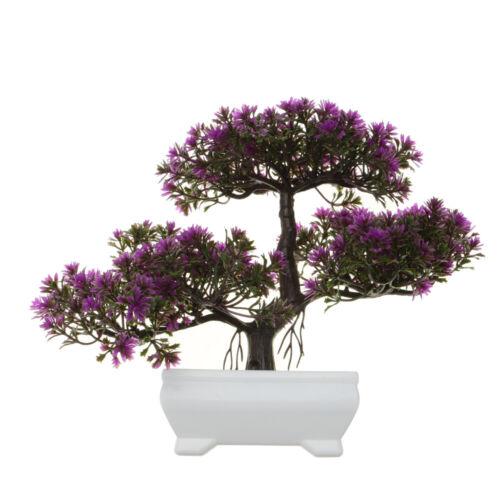 Fake Artificial Plants Bonsai Potted Plant Mini Simulation Pine Tree Desk Decor
