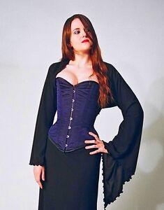 Gothic-Black-Willow-Shrug-Size-Large-Size-16-20-upper-arm-14-15