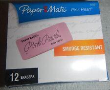 Paper Mate Pink Pearl Eraser Lead Pencil Eraser Box Of 12