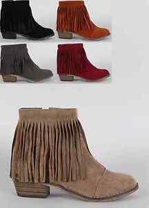 aef469b4ba2 Faux Suede Fringe Ankle Boots   Fashion Ideas
