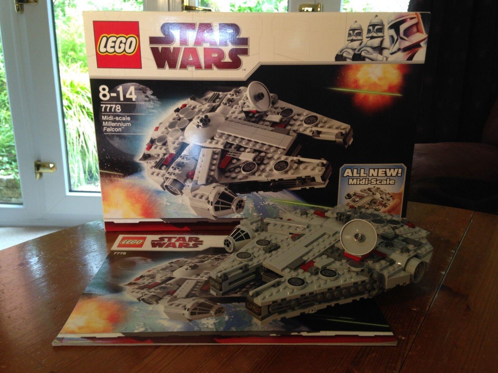 Star Wars Lego 7778  Midi-scale Millennium Falcon 100% Complete & Boxed