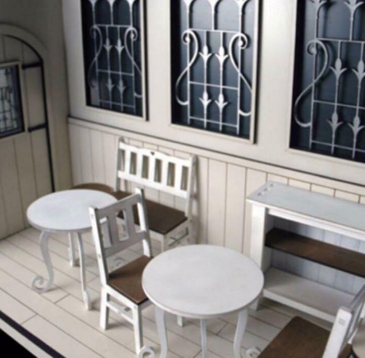 Conjunto de Muebles casa de muñecas tamaño 1 6 blancoo Miniatura Juguete mercancías con seguimiento F S