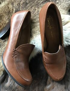 6d9008e9025 Image is loading Women-039-s-Brown-Leather-Franco-Sarto-Heeled-