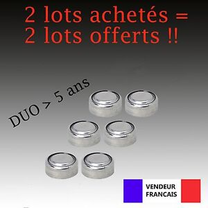 Lot-6-Piles-bouton-LR44-AG13-AG-G13-A-D303-L1154-L1154F-EPX76-A76-RW82-357-SR44