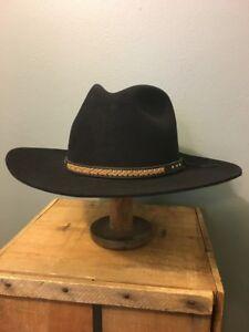 5691b4ff844 Vtg Beaver Brand Hats 5X Cowboy Hat Western Wear Black Fur Felt Mens ...