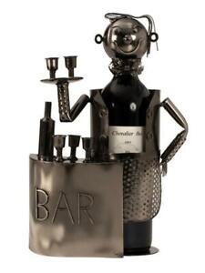 Wein-Flaschenhalter-Barkeeper-Cocktail-Beruf-aus-Metall-Geschenk-Geburtstag