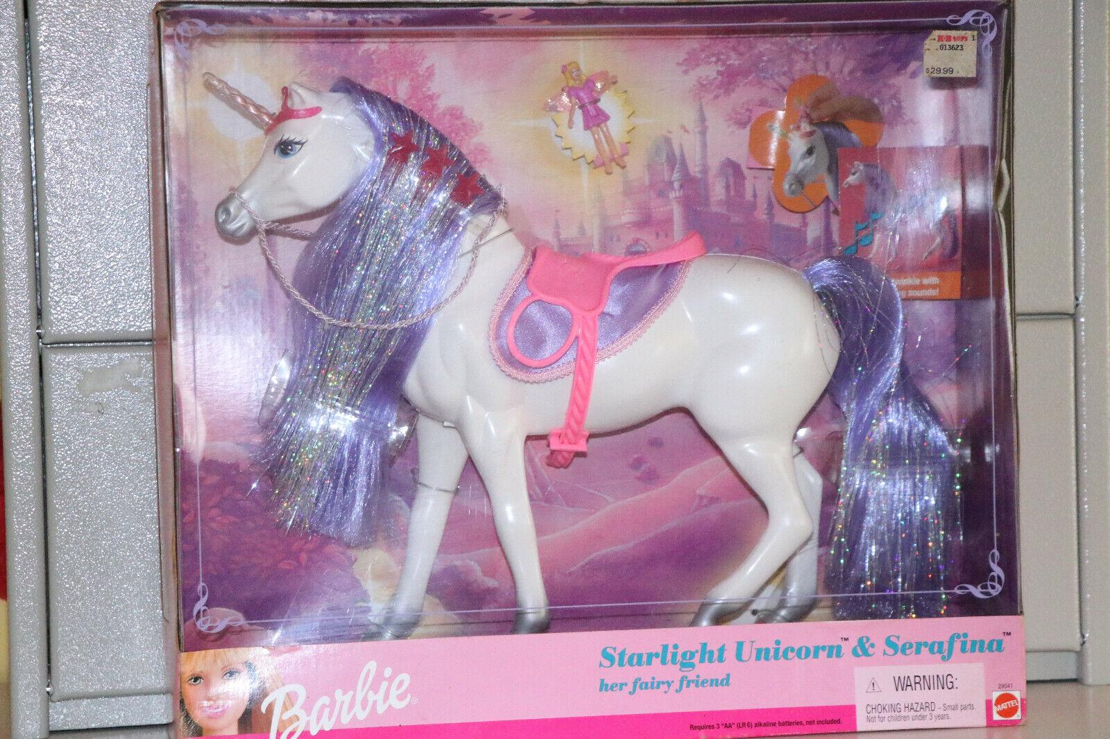 Barbie Starlight Unicorn Sternenlicht Einhorn & Serafina Mattel 2000 NEU
