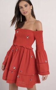 2672c7507162c Image is loading Free-People-Counting-Daisies-Off-Shoulder-Mini-Dress-