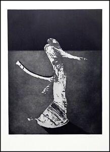 Vintage-Etching-Original-Art-Print-by-Fritz-Scholder-Abstract-Modern-Figure