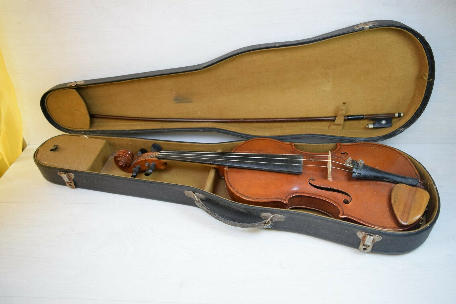 Antique Collectible 4 4 Professional Full Größe Violin Maybe Stradivarius Boxed