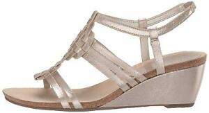 Anne-Klein-Women-039-s-Tilly-Wedge-Sandal-Gold-Size-7-0