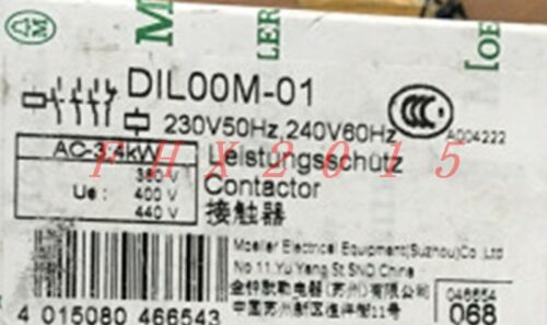 ONE NEW EATON MOLLER DIL00-M-01 CONTACTOR
