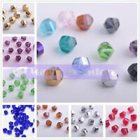 30pcs 8mm Twist Helix Rondelle Crystal Glass Loose Spacer Beads Jewelry Supplies