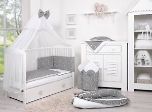 BEDDING-SETS-14-PART-SET-COT-BED-120x60-WITH-DRAWER-INCLUDING-FOAM-MATTRESS