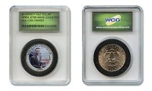 DEREK-JETER-039-94-Minor-League-Colorized-JFK-Half-Dollar-US-Coin-in-Slabbed-Holder