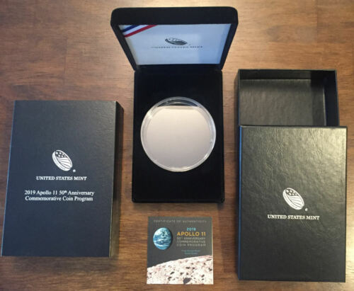 NO COIN US Mint 2019 Apollo 11 50th Anniversary $1 Silver 5 oz PACKAGING ONLY