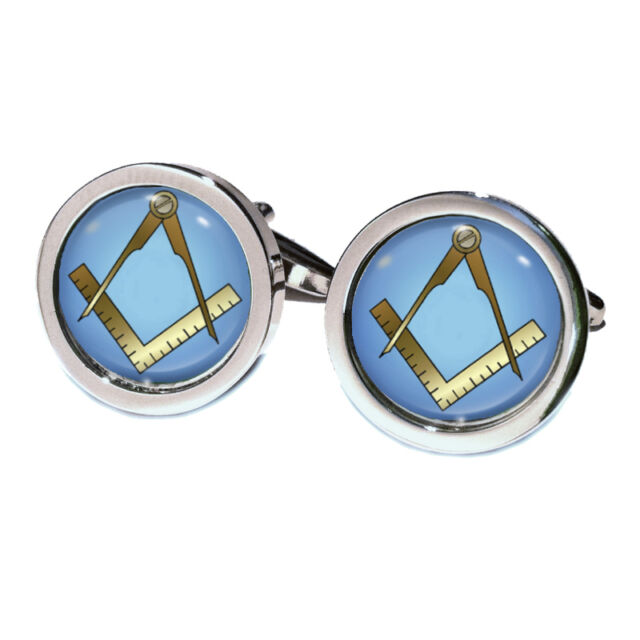 Compass & Ruler Masonic Cufflinks in Gift Box freemasons Grand Lodge (No G) BNIB