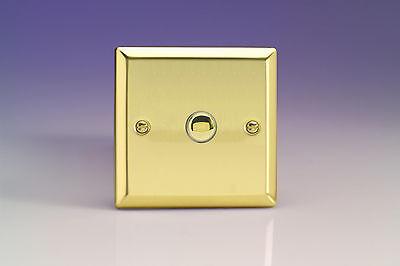 or 2-Way Push-On//Off Impulse Switch European I Varilight Decorative 1-Gang 6A 1