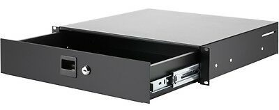"2 He Adam Hall Rackschublade Mit Vollauszug U Schloss Schublade 19""-rack-drawer Cases, Racks & Bags"