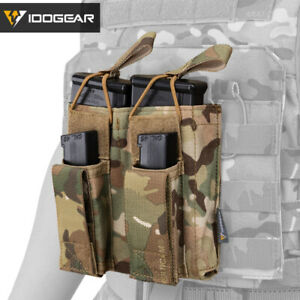 IDOGEAR-Tactical-Magazine-Pouch-Mag-Carrier-Double-Open-Top-5-56-amp-Pistol-MOLLE